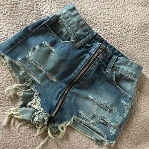 UNIF booty cut shorts